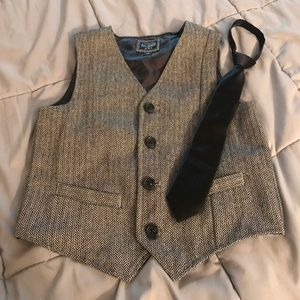 Boys Vest by Childrens Place with Black Tie